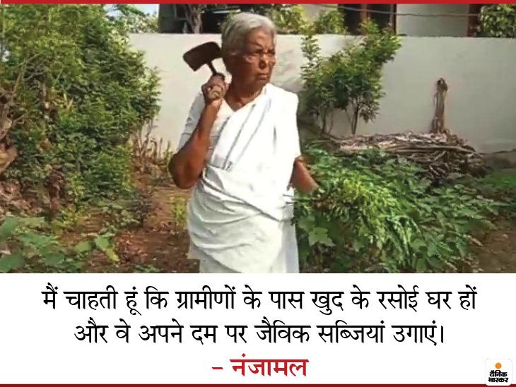 """किचन गार्डन को बढ़ावा देने के लिए नंजामल मुफ्त दे रहीं पौधे, लोग कहने लगे """"सुपर दादी' लाइफस्टाइल,Lifestyle - Dainik Bhaskar"""