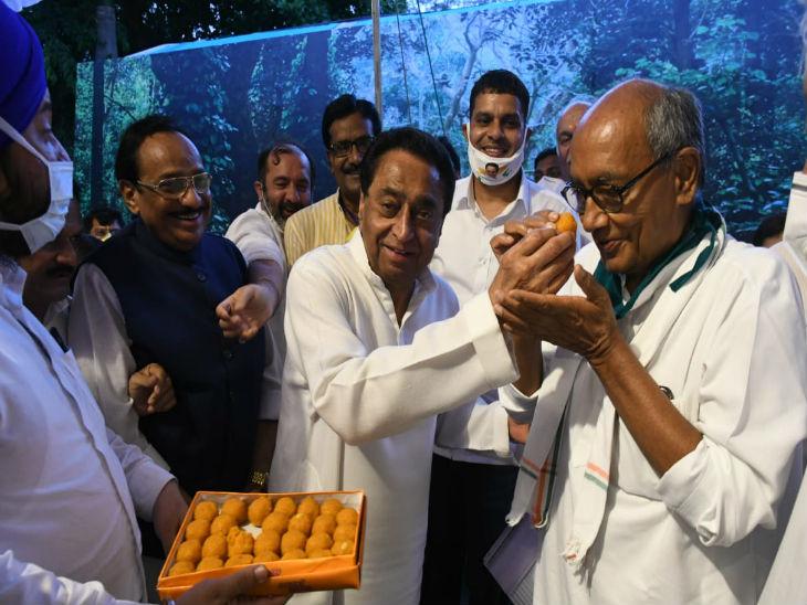 Jyotiraditya Scindia Digvijay Singh (Madhya Pradesh) Update | BJP Wins Rajya Sabha seats in Madhya Pradesg, Sumer Singh Solanki and Congress Digvijay Singh | भाजपा के ज्योतिरादित्य सिंधिया और सुमेर सिंह, कांग्रेस के दिग्विजय सिंह जीते, फूल सिंह बरैया हारे