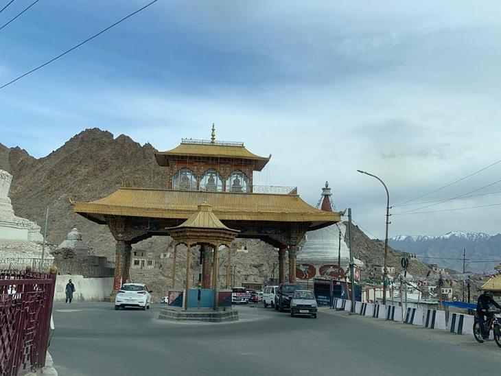 लेह का प्रवेश द्वार।