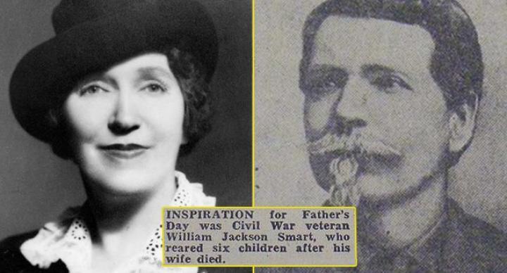 सोनोरा डॉड और उनके पिता विलियम जैकसन स्मार्ट। सिविल वॉर में देश के लिए लड़ने वाले सिपाही विलियम ने दो शादियां की थीं। दुर्भाग्य से दोनों पत्नियों के निधन के बाद उन्होंने अपने 6 बच्चों की परवरिश खुद की। उनकी बेटी सोनोरा ने पिता के इसी समर्पण की याद में फादर्स डे को मनाने की शुरुआत की। इसमें वहां के चर्च ने भी सोनोरा की काफी मदद की।