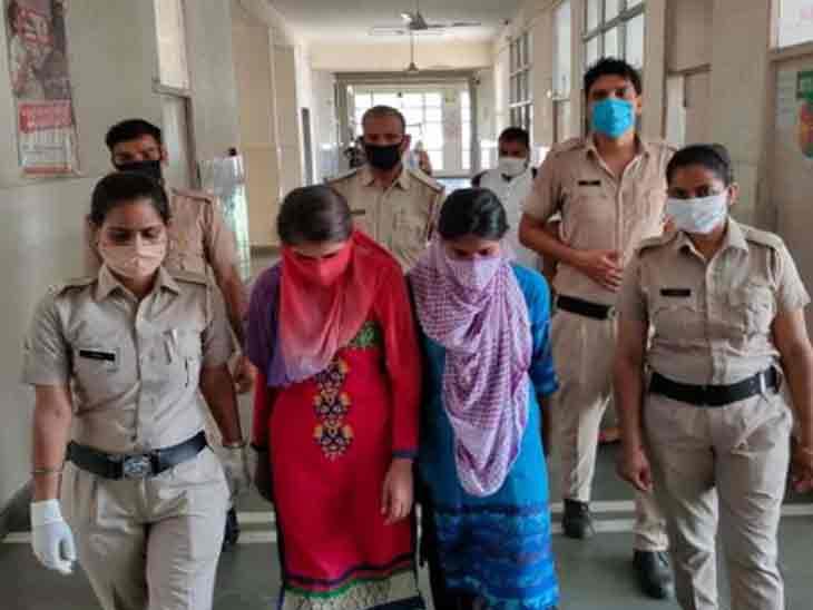 आरोपियों के साथ गाड़ी में मौजूद 2 युवतियों गिरफ्तार, दोनों थी बदमाश अमित की गर्लफ्रैंड|हरियाणा,Haryana - Dainik Bhaskar