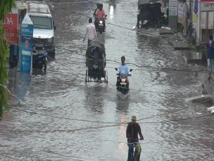 मुजफ्फरपुर में भी करीब 2 घंटे तक भारी बारिश हुई, जिससे कई इलाकों में जलभराव की स्थिति बन गई।
