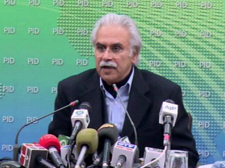 पाकिस्तान के स्वास्थ्य मंत्री जफर मिर्जा ने ट्विटर पर खुद के संक्रमित होने की जानकारी दी। -फाइल फोटो