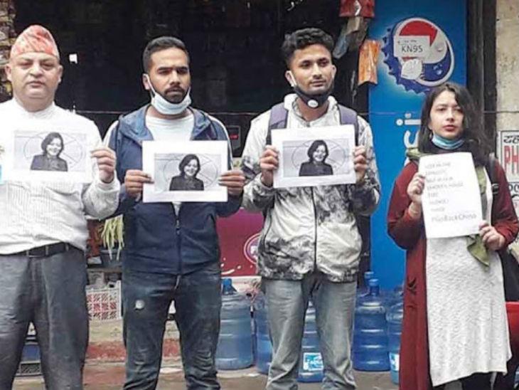 छात्रों ने कहा कि यागंकी को दूतावास तक सीमित रहना चाहिए, हमारे नेताओं के घरों में नहीं। उन्हें चुप रहना चाहिए। - Dainik Bhaskar