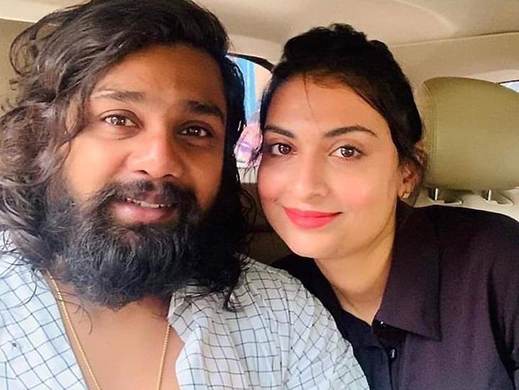 Kannada actor Dhruva Sarja and his wife Prerana Shankar were ...