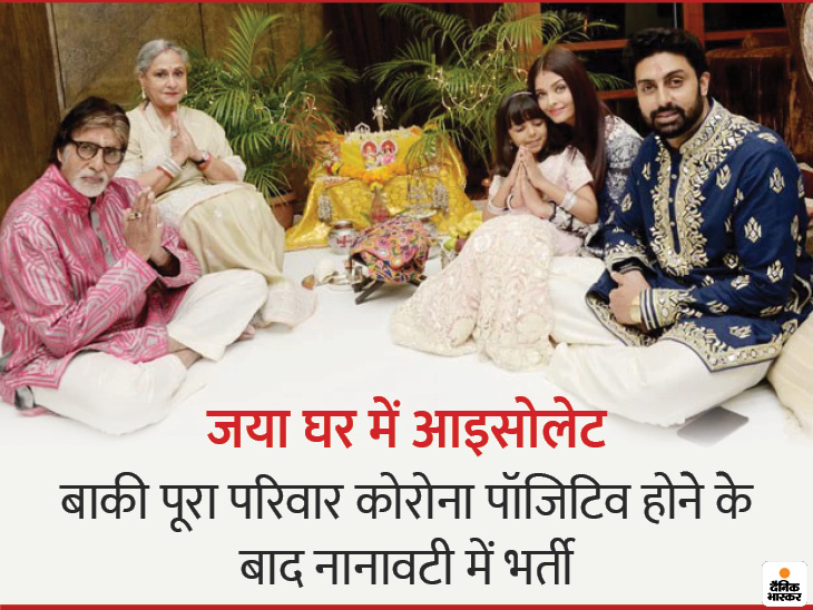 Aishwarya-Aaradhya also admitted to Nanavati Hospital after Amitabh and Abhishek; Aishwarya has mild fever and difficulty in breathing   अमिताभ और अभिषेक के बाद ऐश्वर्या-आराध्या भी नानावटी अस्पताल में भर्ती; ऐश्वर्या को हल्का बुखार और सांस लेने में तकलीफ