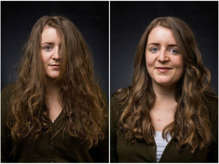 तान्या फॉक्स पहले फोटो में हेयर कट से पहले अपने बिखरे बालों को देख रही हैं। वहीं दूसरे फोटो में हेयर कट के बाद वे खूबसूरत नजर आ रही हैं।