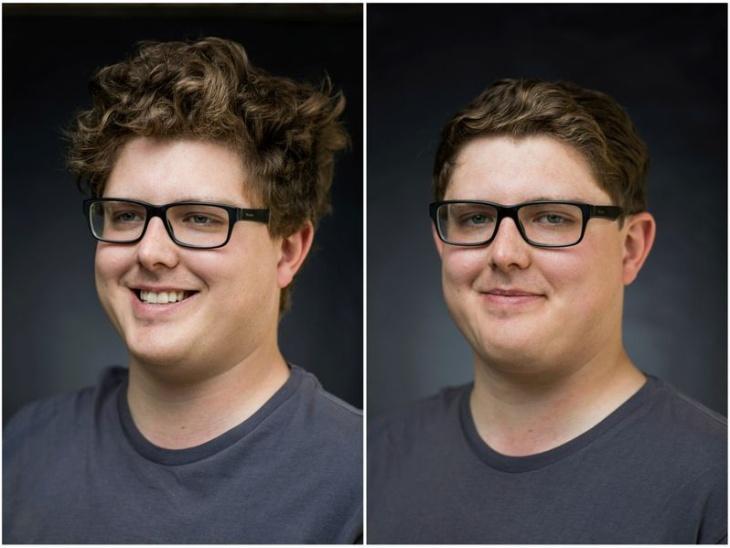 जॉन के पहले फोटो में बढ़े हुए बाल नजर आ रहे हैं, वहीं दूसरे फोटो में हेयर कट के बाद वे स्मार्ट लग रहे हैं।