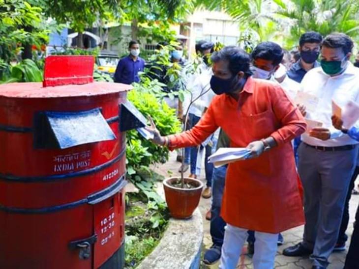 भाजपा 10 लाख पोस्टकार्ड शरद पवार को भेज रही, जवाब में एनसीपी ने वैंकेया नायडू को 20 लाख पोस्टकार्ड भेजने का ऐलान किया|महाराष्ट्र,Maharashtra - Dainik Bhaskar
