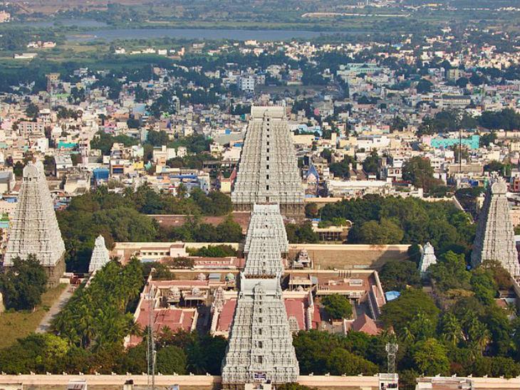 तमिलनाडु में है करीब 1200 साल पुराना अरुणाचलेश्वर मंदिर, यहां अग्नि रूप में होती है शिवजी की पूजा|धर्म,Dharm - Dainik Bhaskar