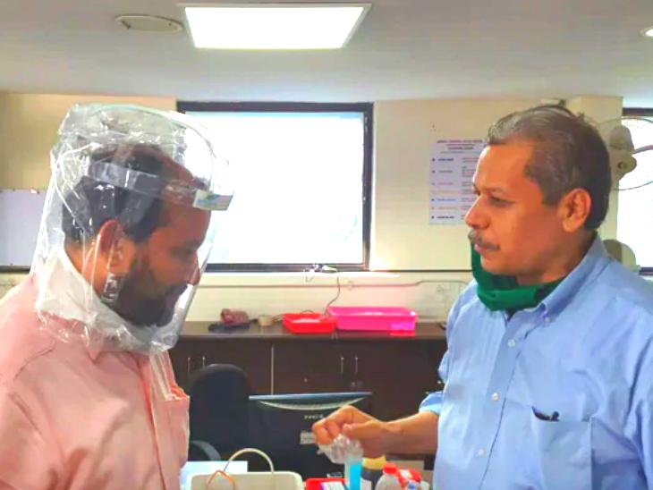 एयर बबल डिवाइस को हेलमेट की तरह पहना जा सकता है। तस्वीर साभार : एनडीटीवी