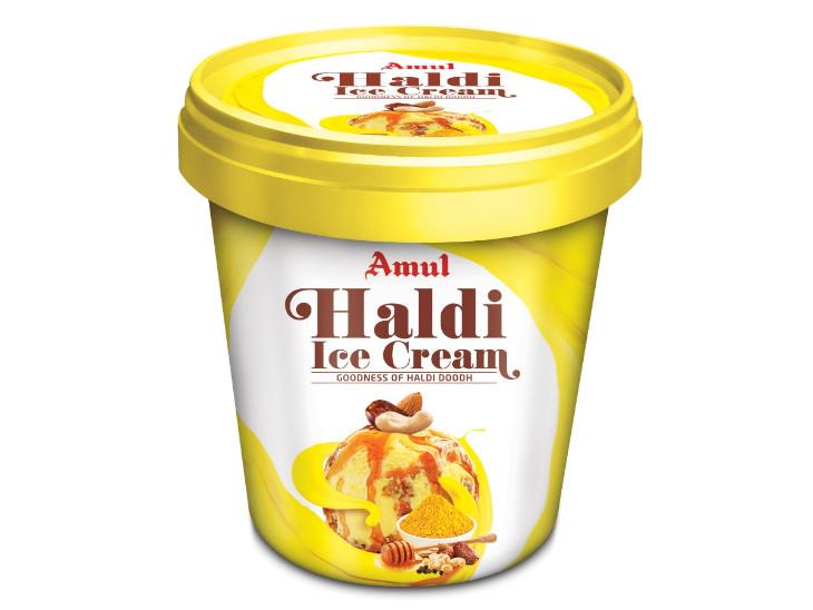 अमूल ने हल्दी दूध के बाद 'हल्दी आइसक्रीम' को किया लॉन्च, रोगों से लड़ने में करेगी मदद|बिजनेस,Business - Dainik Bhaskar