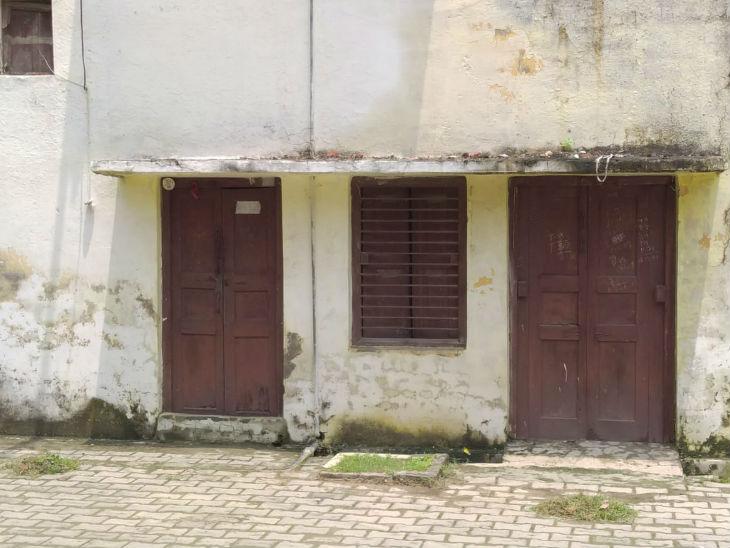 गोपाल विशारद के पुत्र राजेंद्र सिंह का घर। उनका परिवार जन्मभूमि से 100 किमी दूर बलरामपुर में रहता है।