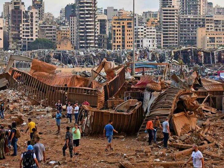 लेबनान के बेरूत में धमाका: 2750 टन अमोनियम नाइट्रेट में ब्लास्ट, 240 किमी तक महसूस हुए झटके; 78 मौत, 4000 घ... - Dainik Bhaskar