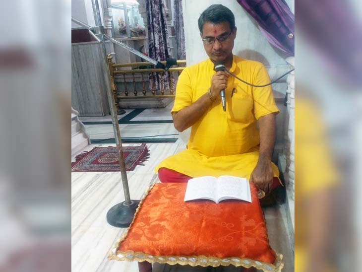 धनबाद स्थित शक्ति मंदिर में सुंदरकांड पाठ का आयोजन किया गया।