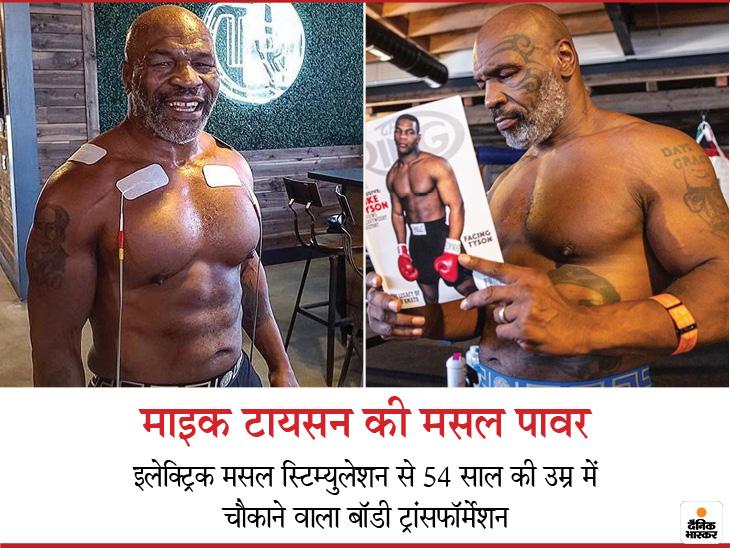 15 साल बाद रिंग में लौटने वाले बॉक्सर माइक टायसन ने इलेक्ट्रिक मसल स्टिम्युलेशन से बॉडी ट्रॉन्सफॉर्म की, इस बदलाव को 3 पॉइंट्स से समझें लाइफ & साइंस,Happy Life - Dainik Bhaskar