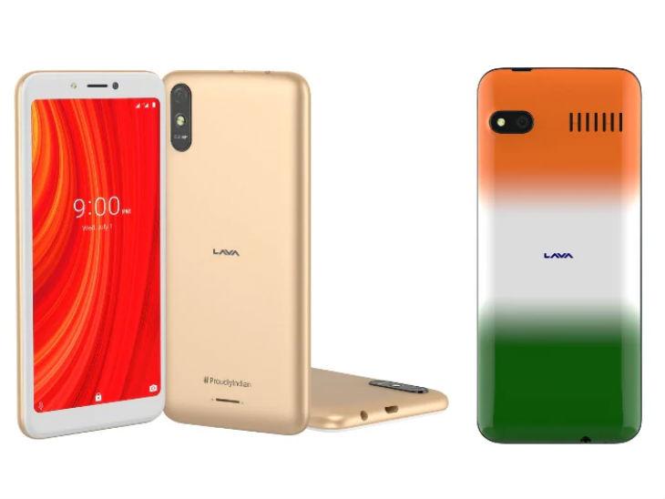 लावा Z61 प्रो फोन (बाएं) 2GB रैम और 16GB स्टोरेज के साथ शैंपेन गोल्ड कलर में उपलब्ध होगा, तीन फोन को फ्लिपकार्ट और ऑफलाइन रिटेल स्टोर्स से खरीदा जा सकेगा
