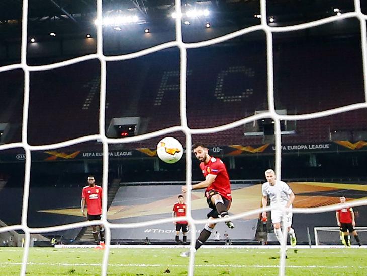 मैनचेस्टर यूनाइटेड सेमीफाइनल में, ब्रूनो के आखिरी मिनट में गोल की बदौलत कोपेनहेगन को 1-0 से हराया|स्पोर्ट्स,Sports - Dainik Bhaskar