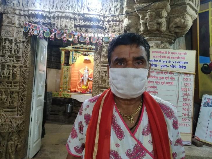 रुक्मणी मंदिर के पुजारी जयेशभाई।