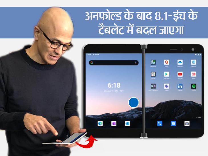सत्या नडेला के हाथ में दिखने वाला एंड्रॉयड स्मार्टफोन अब आम आदमी तक पहुंचेगा, जानिए फोल्डेबल स्क्रीन वाला सरफेस डुओ कितना पावरफुल है? टेक & ऑटो,Tech & Auto - Dainik Bhaskar