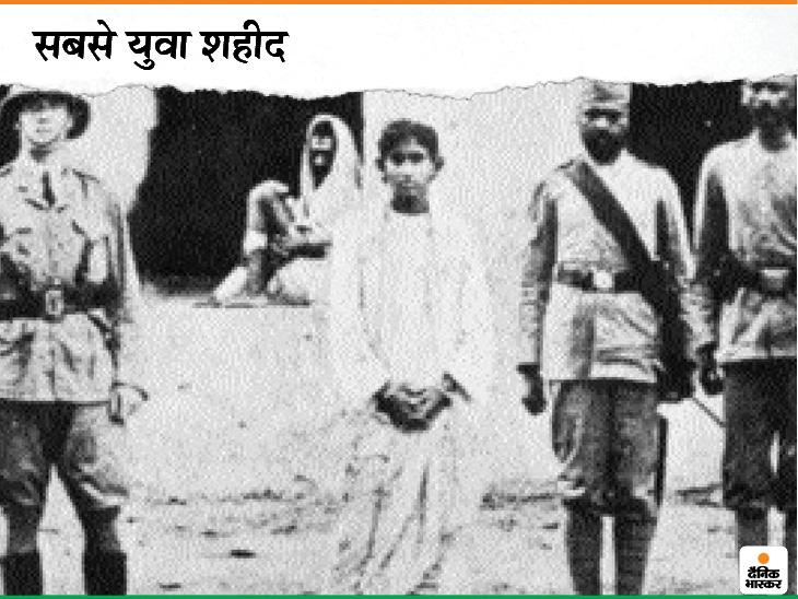 यह तस्वीर खुदीराम बोस की है। महज 18 साल की उम्र में 11 अगस्त 1908 को खुदीराम को फांसी पर चढ़ा दिया गया था। खुदीराम बचपन से ही क्रांतिकारी थे। खुदीराम को मुजफ्फरपुर जेल में फांसी दे दी गई थी। खुदीराम शेर की तरह निर्भीक होकर फांसी के तख्ते पर बढ़े थे।