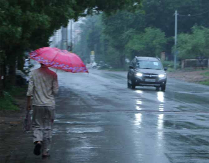 जोधपुर में सुबह से हो रही है रिमझिम बारिश, 48 घंटो में भारी बारिश की चेतावनी|जोधपुर,Jodhpur - Dainik Bhaskar