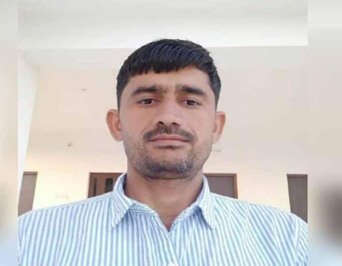 बाड़मेर के गुड़ामालानी क्षेत्र में गोली लगने से मारा गया हिस्ट्रीशीटर रेखाराम। - Dainik Bhaskar