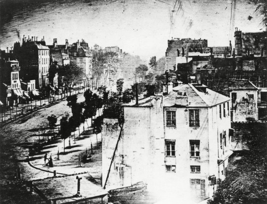 Louis continued his experimentation on photography, taking the world's first such photograph in 1838. It was taken from Boulevard du Temple in France.