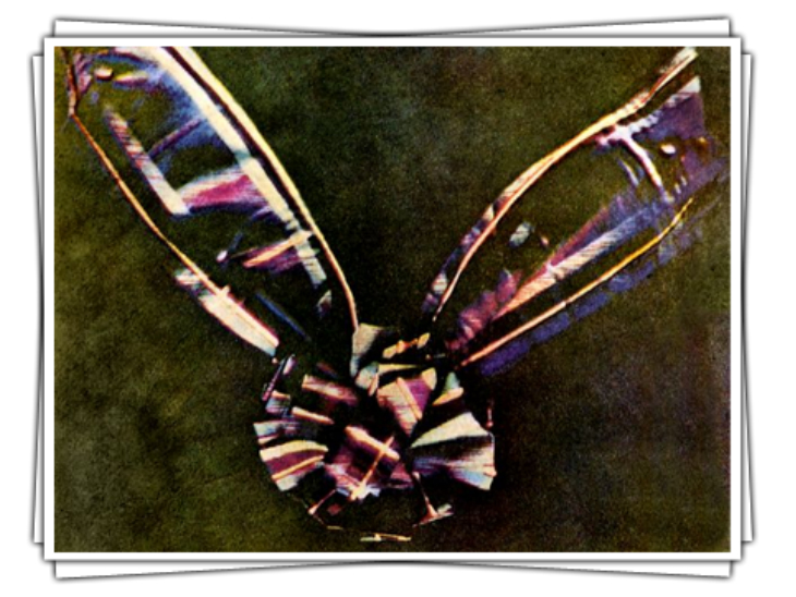 The world's first color photograph, captured in 1861 by James Clarke Maxwell.