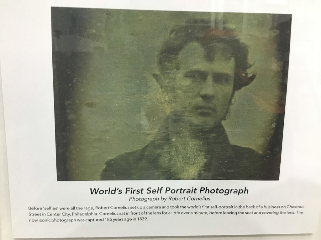 This is the world's first selfie in which Robert Cornelius is seen taking it.