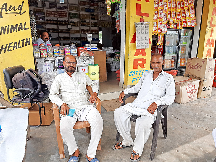 These are the sarpanch Soloram of Makwal and Panch Satpal Singh.