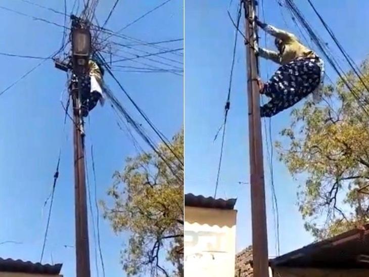 Usha Jagdale, who climbed fast without a ladder on the electric pole, maintains her special identity as 'Wire Woman' | बिजली के खंभे पर बिना सीढ़ी के तेजी से चढ़ जाती हैं उषा जगदाले, लोगों को हर हाल में बिजली सुविधा देना चाहती है ये 'वायर वुमन'