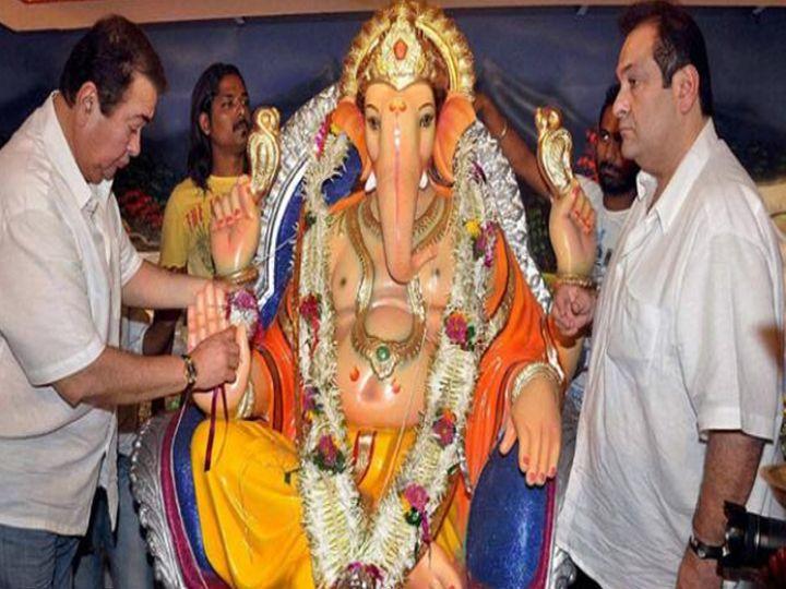 Randhir Kapoor-Rajiv Kapoor celebrating Ganesh festival for the last time at RK Studios in 2018.