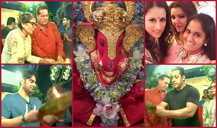 Many celebs also arrive during the Ganesh festival at the Galaxy Apartments.