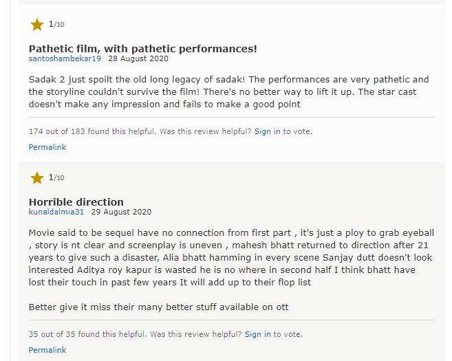 Viewers gave reviews on IMDb.