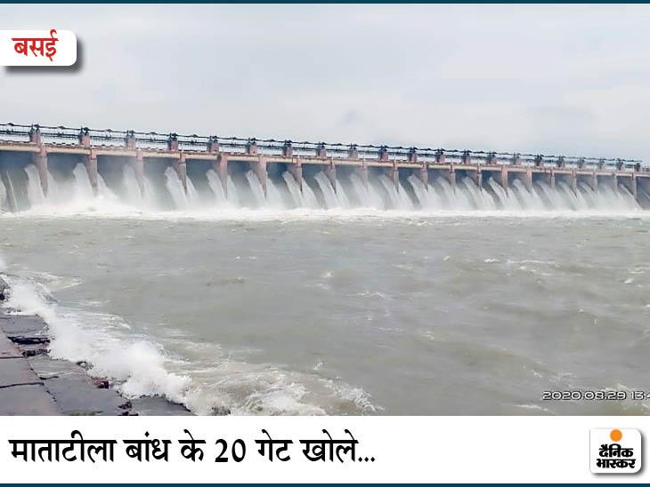 Many states like floods due to heavy rains, Mahanadi in Chhattisgarh and Narmada boom in Madhya Pradesh, water released from many dams, settlements submerged | कई राज्यों में भारी बारिश से बाढ़ जैसे हालात, छत्तीसगढ़ में महानदी तो मध्यप्रदेश में नर्मदा उफान पर, कई डैम से छोड़ा गया पानी