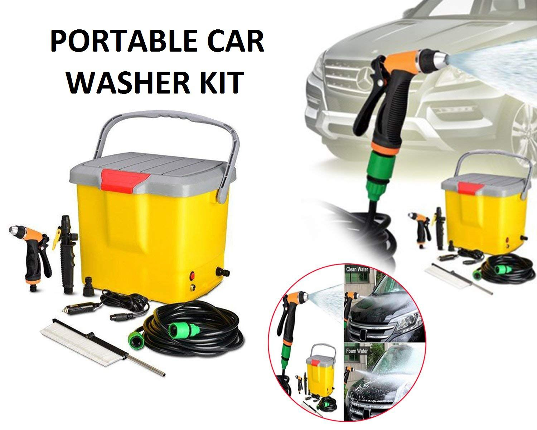 यह भी पोर्टेबल कार वॉशर का एक मॉडल है। इसे कार की बैटरी से पावर देना होता है, इस तरह के वॉशर में व्हील्स लगे होते है, जिन्हें कहीं भी आसानी से ले जाया जा सकता है।