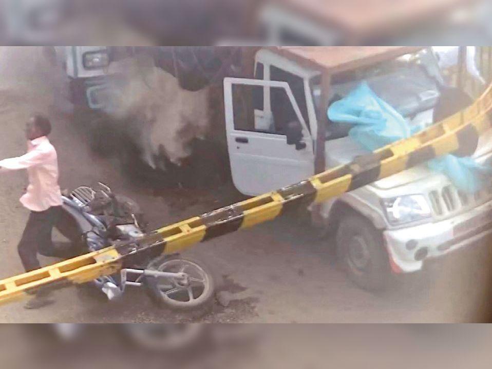 सीसीटीवी फुटेज : जो सामने आया ट्रक ने कुचल दिया - Dainik Bhaskar