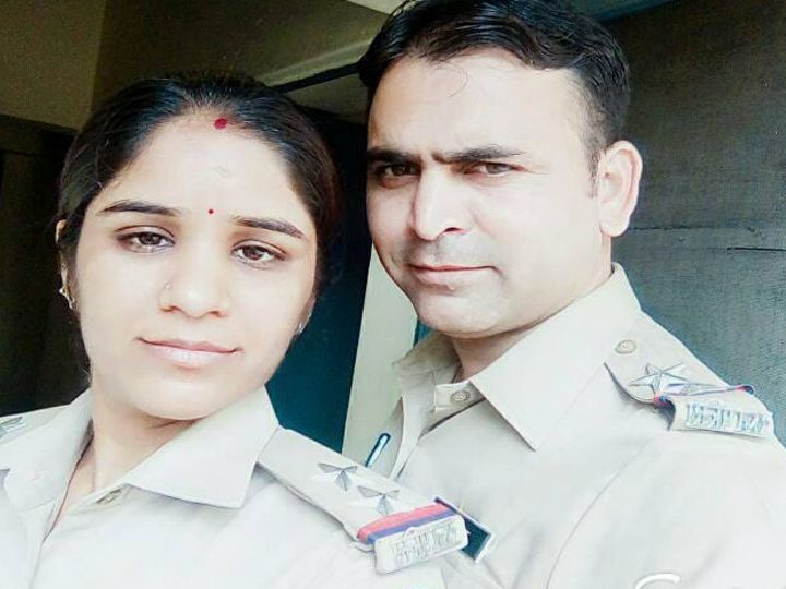 Sunderlal's wife Manju is also SI. The two had their wedding anniversary on 20 April. Sunderlal could not even meet his wife due to duty at Kovid Hospital.