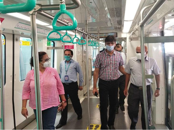 रविवार को मेट्रो के अधिकारियों ने निरीक्षण किया।