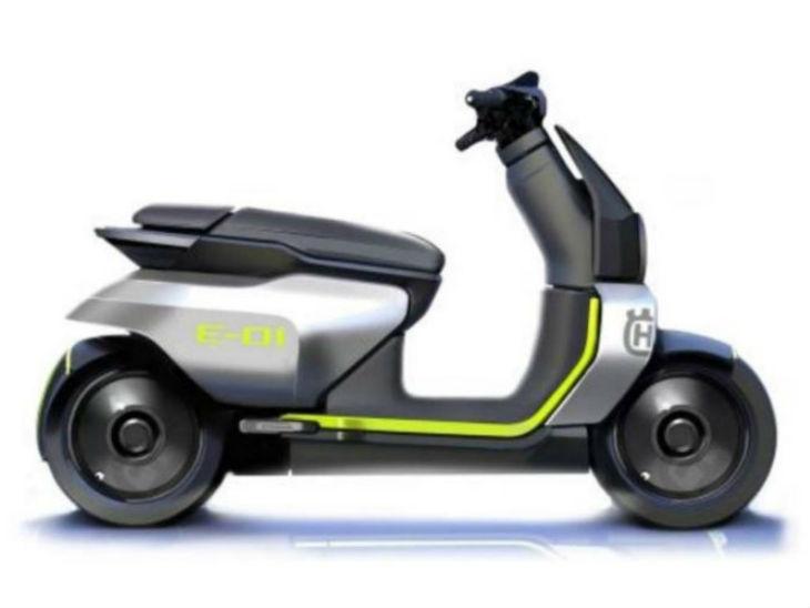 हुस्कवर्ना ई-स्कूटर का कॉन्सेप्ट डिजाइन