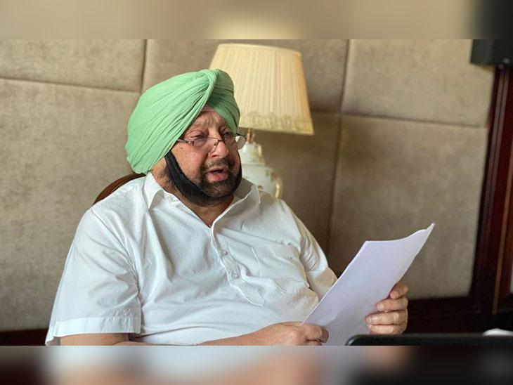 पंजाब के मुख्यमंत्री कैप्टन अमरिंदर सिंह कोरोना के हालात पर समीक्षा के लिए वर्चुवल मीटिंग में शामिल। - Dainik Bhaskar