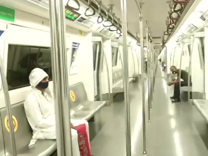 Such was the state of the metro in Delhi.