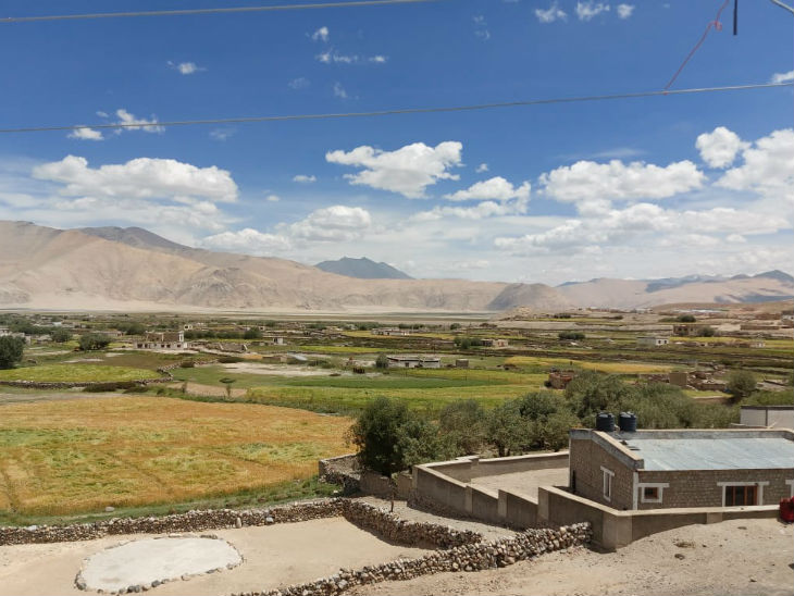 The picture is of Chushul village, barely 5 km from the place where the bullet was fired yesterday. About 170 families live here.