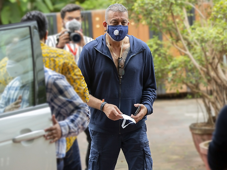 Sanjay Dutt's photo from the set of the film 'Shamshera' after his return to shooting.