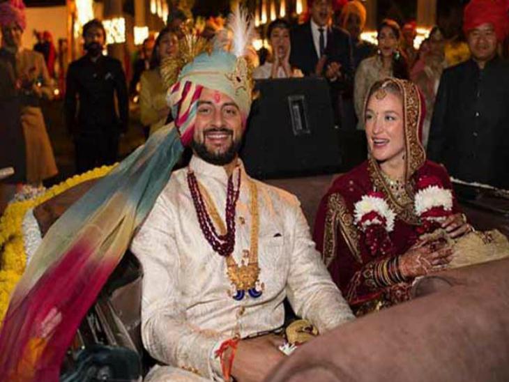 अरुणोदय सिंह अपनी पत्नी ली एनी एल्टन के साथ। अरुणोदय ने पिछले साल भोपाल के कुटुंब न्यायालय से तलाक ले लिया था।