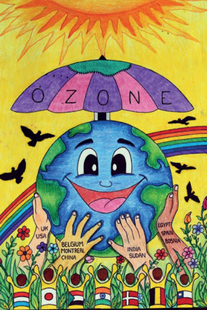 ओजोन लेयर को सुरक्षित रखने के लिए दुनियाभर के कई देशों के बीच हुए मॉन्ट्रियल प्रोटोकॉल को दिखाती तस्वीर। साभार : सोशल मीडिया