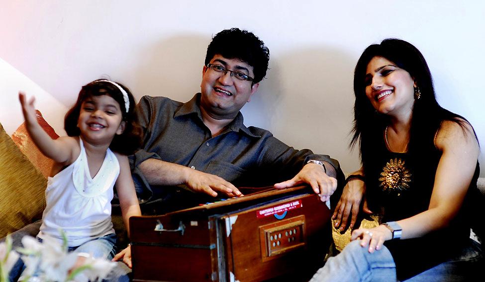 Prasoon Joshi with family.