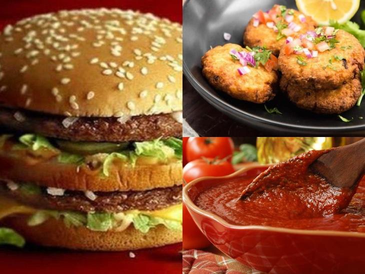 आलू टिक्की बर्गर बनाने के लिए सबसे पहले सॉस बनाएं, उबले आलू और भीगे हुए पोहे मिक्स करके फ्राय करें इसे|लाइफस्टाइल,Lifestyle - Dainik Bhaskar
