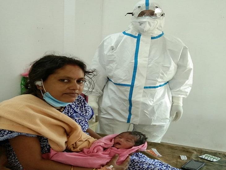 फोटो कांकेर के कोविड अस्पताल की है, बच्चे की जांच की गई है फिलहाल उसकी कोरोना रिपोर्ट नहीं आई। हालांकि वह स्वस्थ है।